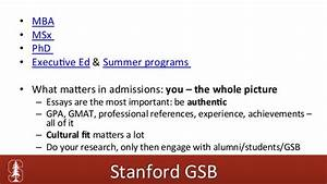 what matters most to you and why stanford sample essay