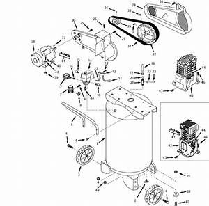 Speedaire 4yn50a Air Compressor Parts