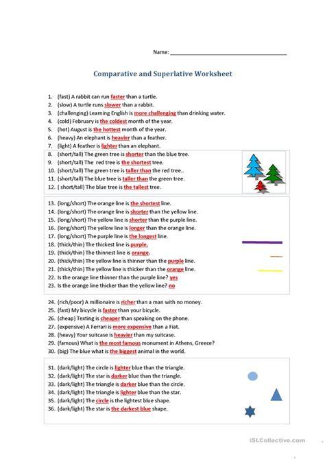 comparative and superlative worksheet worksheet free esl printable worksheets made by teachers