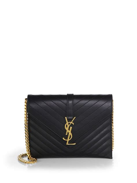 saint laurent matelasse monogram envelope chain bag