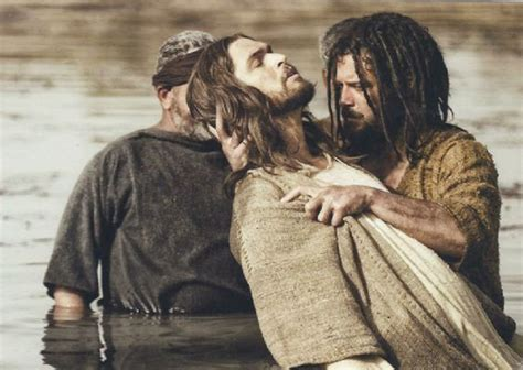 Jesus Gets Baptized By John The Baptist From The Bible