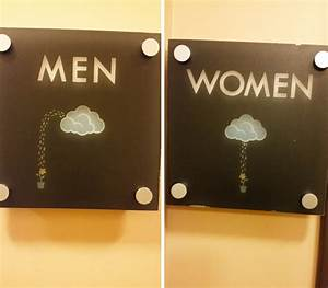 10 of the most creative bathroom signs ever bored panda for Bathroom funny videos