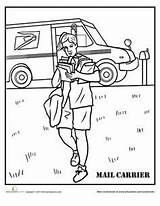 Mail Coloring Pages Carrier Worksheets Printable Office Worksheet Baker Community Colouring sketch template
