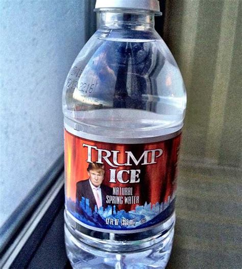 trump ice natural spring water bottled waters