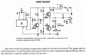 Wire Tracer Electronic Circuits