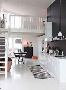 cuisine blanche facades meubles laquees credence noir With tendance couleur peinture salon 11 20 photos de beton cire de couleur et beton colore exterieur