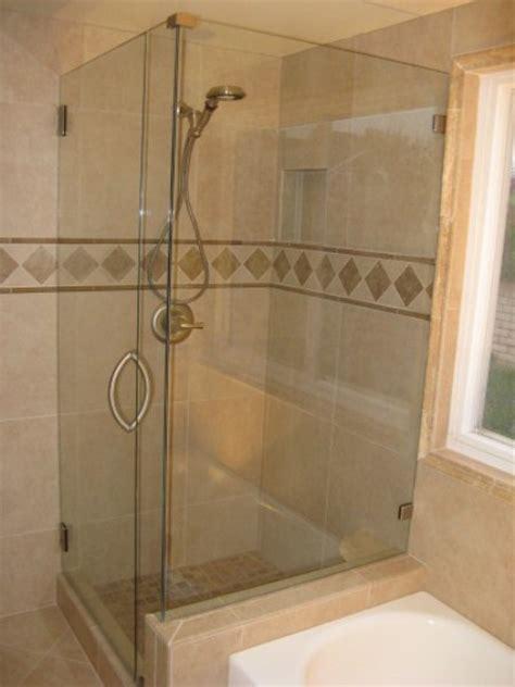 seamless corner showers   pony wall