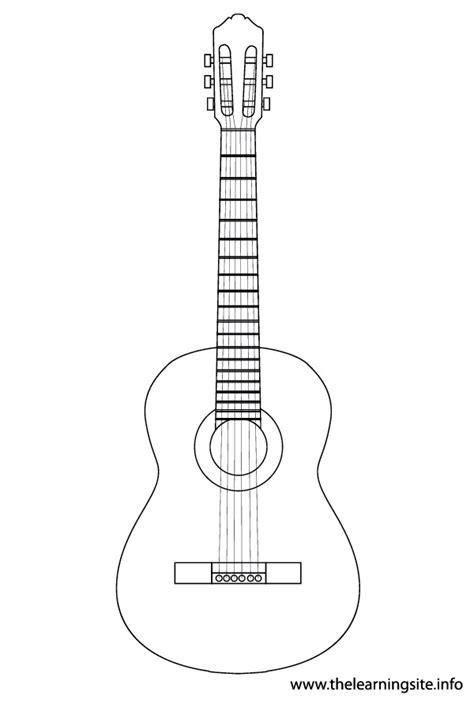 guitar templates coloring pages of guitar search preschool guitars template and