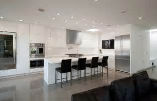kitchen island counter stools pioneer square condo modern kitchen seattle by dyna contracting