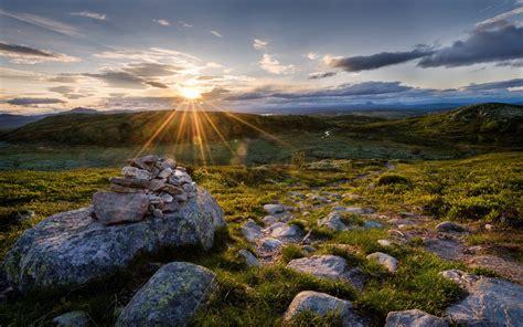 nature, Sun, Grass, Rock Wallpapers HD / Desktop and ...