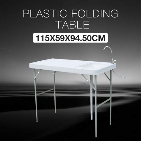 folding portable fish hunting cleaning cutting table