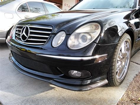 """There you'll find many mercedes benz vehicles fitted with many of our mercedes rims. 2004 Mercedes-Benz W211 E55 AMG on 19"""" Chrome Wheels   BENZTUNING"""