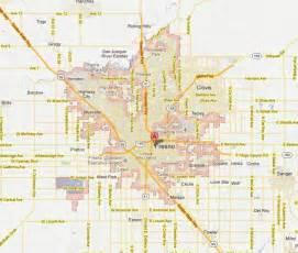 Street Map Fresno California