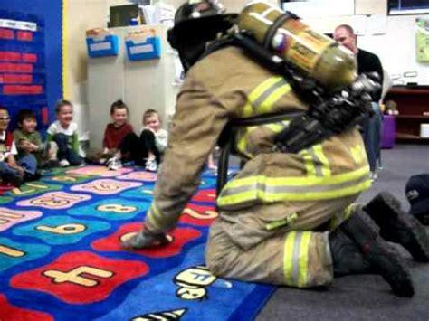 firefighter teaches  preschool  kids   afraid