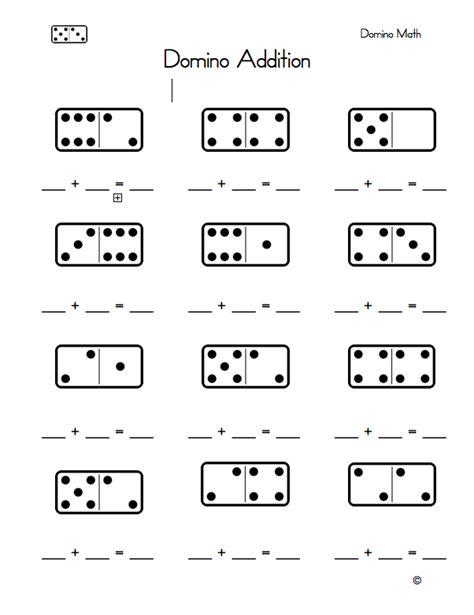 Domino Math Worksheet  Domino Addition Worksheet Kindergarten Printablesdomino Dot Worksheets