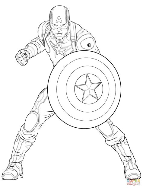 avengers coloring pages captain america avengers captain america coloring page free printable