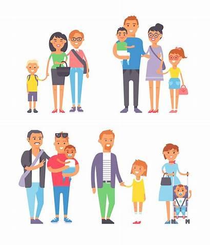 Clipart Blended Familia Olika Familjer Different Tipos
