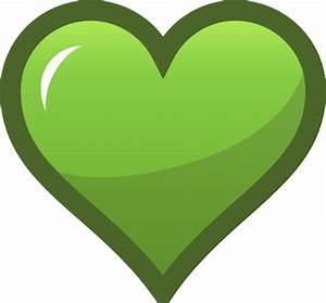 Green Heart Icon Clip Art at Clker.com