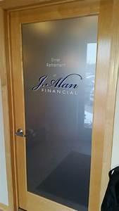 Etched, Glass, Office, Door