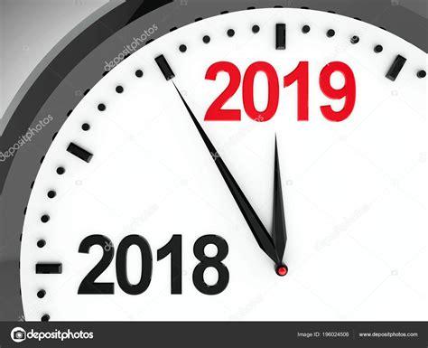Black Clock 2018 2019 Change Represents Coming New Year