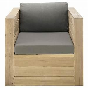Fauteuil Jardin Bois : fauteuil de jardin en bois gris brehat maisons du monde ~ Teatrodelosmanantiales.com Idées de Décoration