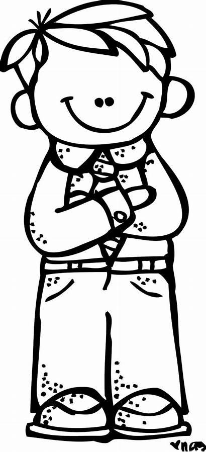 Clip Melonheadz Boy Clipart Coloring Praying Lds