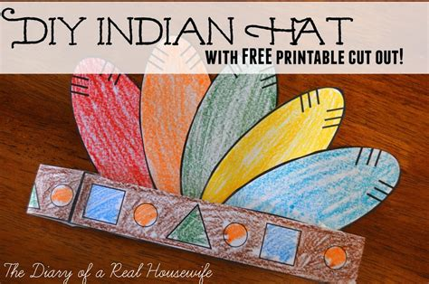 DIY Indian Hat with FREE Printable Cut Out - The Diary of ...