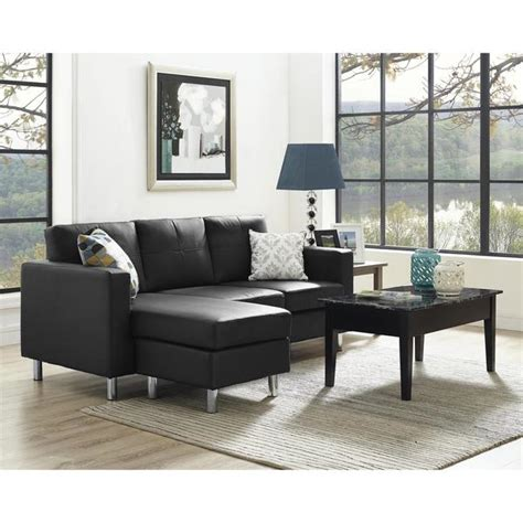 Small Black Loveseat by Shop Dorel Living Small Spaces Black Faux Leather