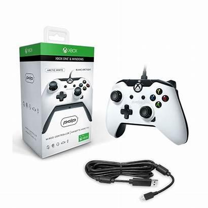 Manette Brillant Filaire Xbox Pdp Blanc Windows