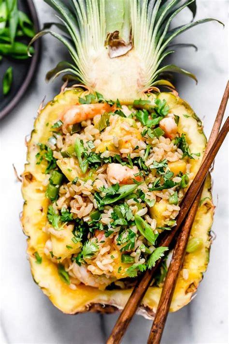 pineapple shrimp fried rice recipe pineapple shrimp