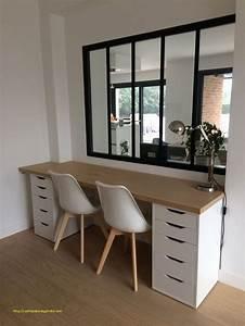 Planche Bureau Ikea : plan de travail bureau bois coeur dunivernais ~ Dallasstarsshop.com Idées de Décoration