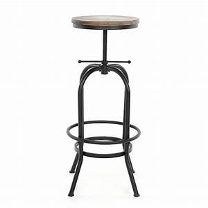 Tabouret Style Industriel : tabouret de bar de style industriel en bois de pin interouge home ~ Teatrodelosmanantiales.com Idées de Décoration