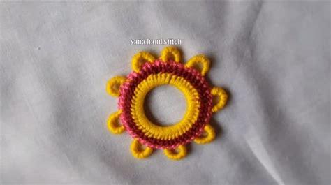 hand embroidery mirror work  multi design simple