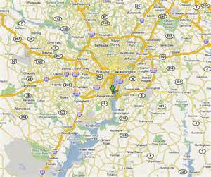 Washington DC Maryland and Virginia Map