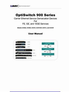 Optiswitch 900 Series User Manual  Ml49175a  L2  Ver  2 1