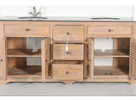 sous bureau original meuble vasques en bois massif et marbre persienne