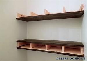 DIY $15 Chunky Wooden Floating Shelves Desert Domicile