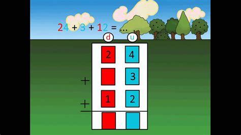 apprendre  poser une addition en colonnes limmeuble