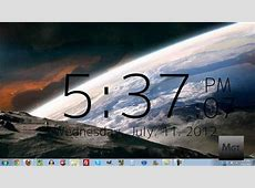 How To Get a Clock On Your Desktop in Windows YouTube