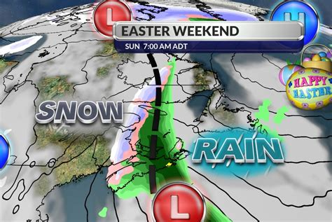 Wet and windy Easter weekend in store for P.E.I., says ...