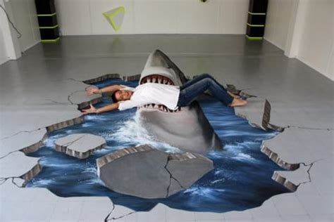 3D Floor Paintings That Create Unbelievable Optical Illusion