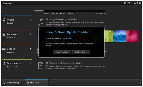 blackberry z10 update device software