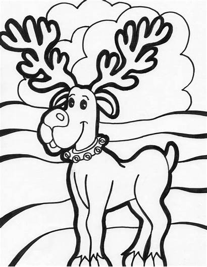 Coloring Christmas Pages Sheets Printable Xmas Reindeer