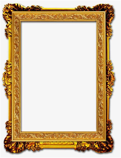 gold picture frames gold frame frame gold png image and clipart for free