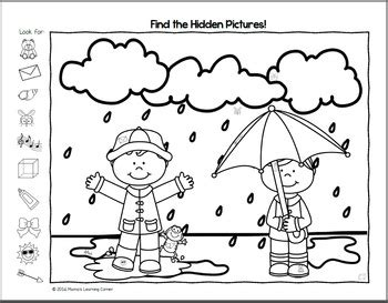 spring hidden picture worksheets  mamas learning corner