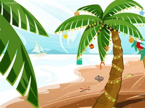 Palm Tree With Christmas Lights Clipart (24