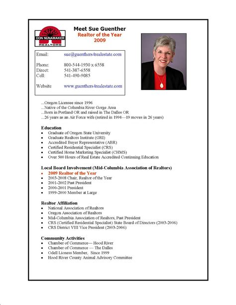 Real Estate Resume by Real Estate Resumes Sles Sle Resumes
