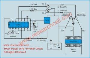 inverter circuit diagram ups 600va circuit
