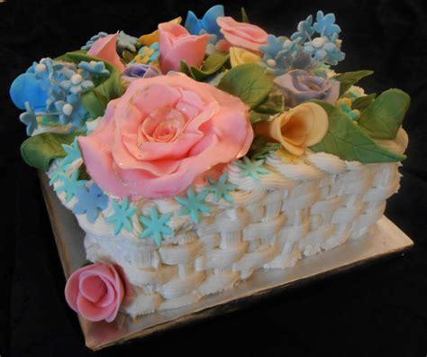 Moms 84th Birthday Cake Square Basket Weave Cake Lemon