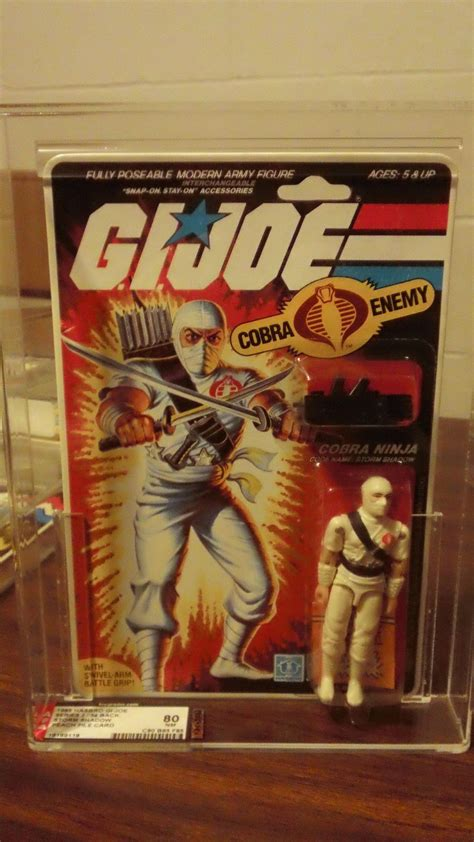 gi joe vintage cobra ninja storm shadow white action